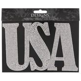 USA Rhinestone Iron-On Applique