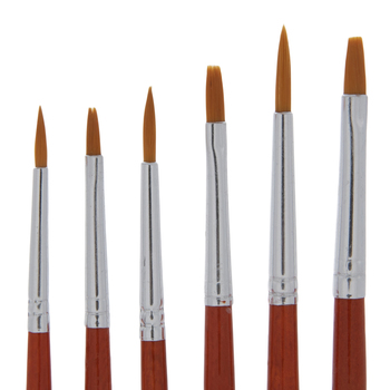 Golden Taklon Paint Brushes - 12 Piece Set