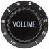 Black Volume Metal Knob