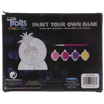 Trolls Coin Bank Kit