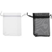 Black & White Organza Bags