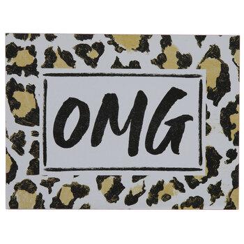 OMG Leopard Print Wood Decor