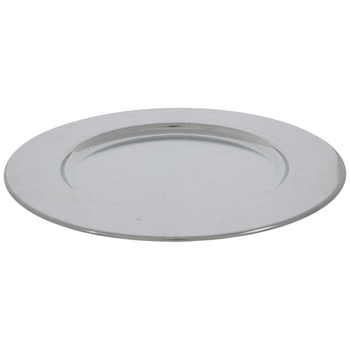 Silver Galvanized Metal Plate Charger