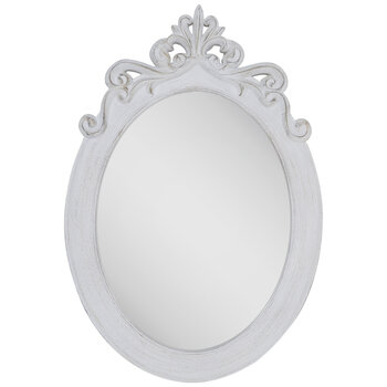 Distressed White Ornate Oval Wall Mirror Hobby Lobby 997726