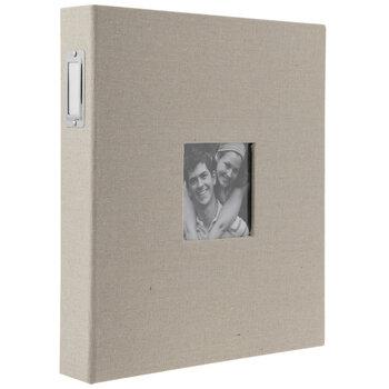 """Linen 3-Ring Scrapbook Album - 8 1/2"""" x 11"""""""
