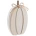 White Layered Wood Pumpkin