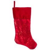 Red Sequin Snowflakes & Swirls Stocking