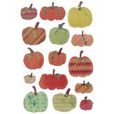 Harvest Glitter Pumpkin Stickers
