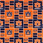 Auburn Block Collegiate Cotton Fabric