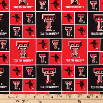 Texas Tech Block Collegiate Cotton Fabric