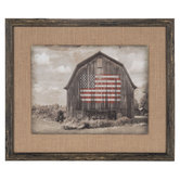 Barn Flag Wood Wall Decor