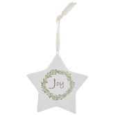 Joy Star Ornament