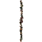 Earth Multi Dyed Agate Chips Bead Strand