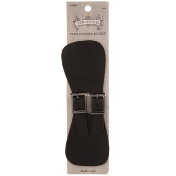 Faux Leather Wide Strap With Buckles