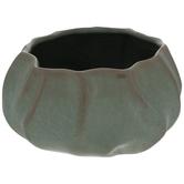 Green & Brown Ridged Bowl