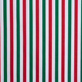 Red, Green & White Striped Cotton Fabric