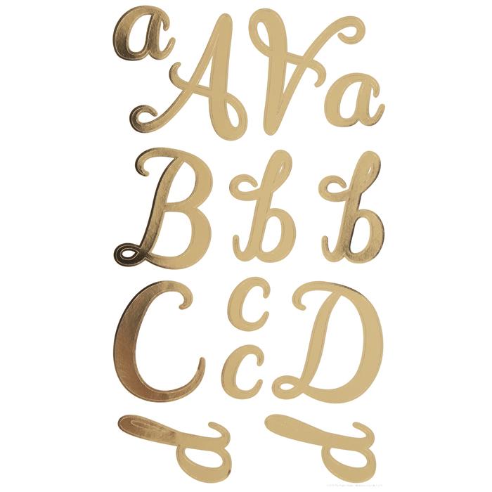 Alphabets stickers