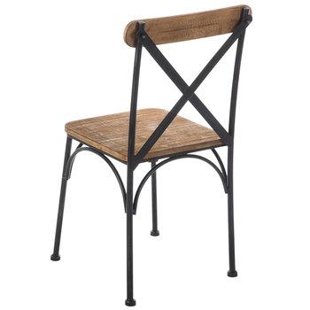 Farmhouse Rustic Metal Chair