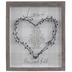 Love Is Patient Heart Framed Wall Decor