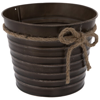 Ribbed Metal Container With Bow