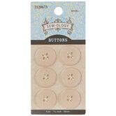 Blush Round Buttons - 18mm