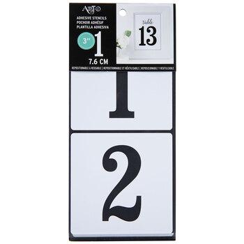 """Serif Number Stencils - 3"""""""