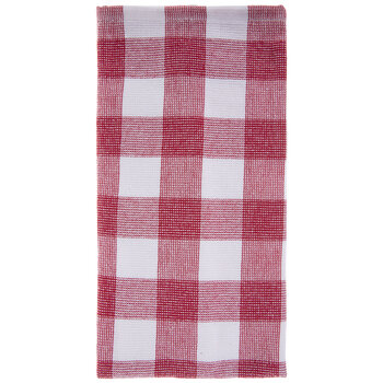Red & White Buffalo Check Kitchen Towel