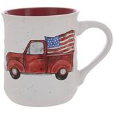 Red Truck & Flag Mug