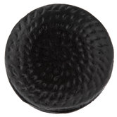 Black Dimpled Metal Knob