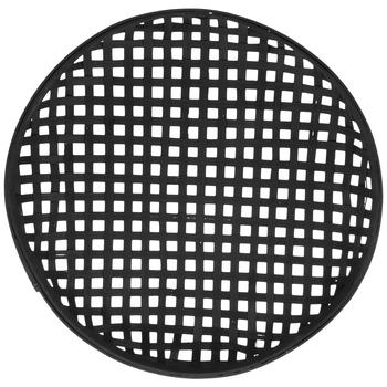 Black Round Woven Wall Basket