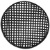 Black Round Woven Wall Basket - Medium