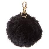 Black Pom Pom Keychain