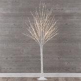 White Birch Pre-Lit Christmas Tree - 5'