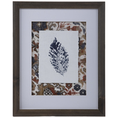 Leaf Imprint Framed Wall Decor