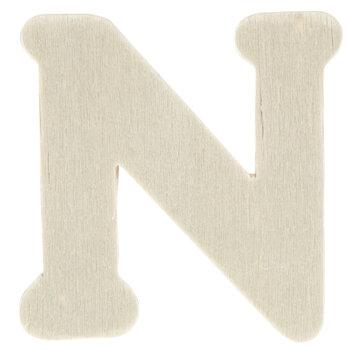 """Wood Letters N - 1 3/4"""""""