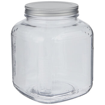 Square Glass Mason Jar