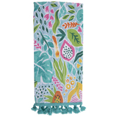 Tropical Leaves & Fruits Kitchen Towel