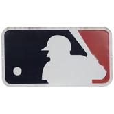 Rusted MLB Logo Metal Sign