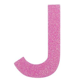 """Glitter Wood Letter J - 4"""""""