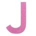 Glitter Wood Letter J - 4