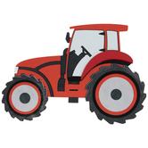 Red Tractor Painted Wood Shape