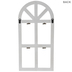 White Arched Window Wood Wall Decor With Clips