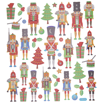 Nutcracker Glitter Stickers
