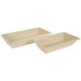 Rectangle Wood Tray Set