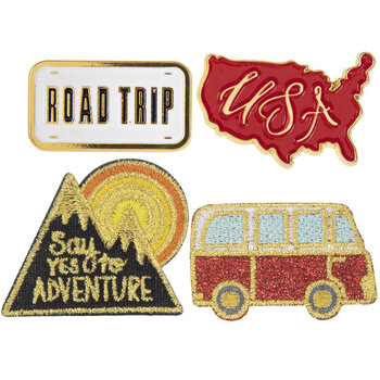 Adventure Iron-On Appliques & Pins