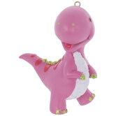Pink Dinosaur Ornament