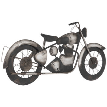 Rustic Motorcycle Metal Wall Decor