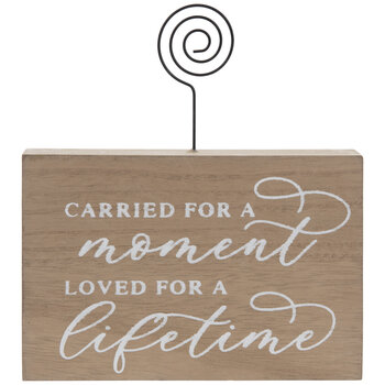 Loved For A Lifetime Wood Photo Clip