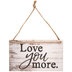 Love You More Wood Wall Decor