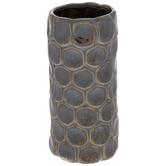 Metallic Brown Circle Vase